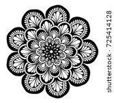 mandala for coloring book.... | Shutterstock .eps vector #725414128
