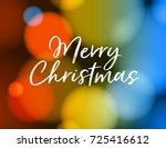 merry christmas greeting card.... | Shutterstock .eps vector #725416612