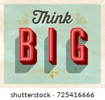 vintage style postcard   think... | Shutterstock .eps vector #725416666