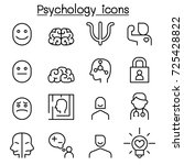 psychology icon set in thin... | Shutterstock .eps vector #725428822