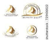 logo set for beauty salon  spa... | Shutterstock .eps vector #725430022