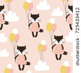 seamless childish pattern with... | Shutterstock .eps vector #725433412