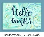 hello winter greeting card in... | Shutterstock .eps vector #725434606