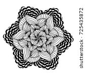 mandalas for coloring book.... | Shutterstock .eps vector #725435872