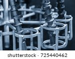 Small photo of The camshaft casting parts in cleaning process.Automobile part manufacturing.