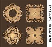 vintage frames and scroll... | Shutterstock .eps vector #725446825