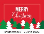 merry christmas postcard with... | Shutterstock .eps vector #725451022