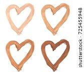 heart set   cosmetic  lipstick... | Shutterstock . vector #725455948