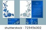 vector illustration postcard.... | Shutterstock .eps vector #725456302
