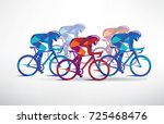 cycling race stylized... | Shutterstock .eps vector #725468476