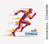 running man vector symbol ... | Shutterstock .eps vector #725468488