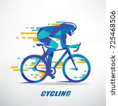 cycling race stylized...