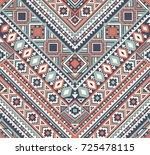 seamless ethnic pattern... | Shutterstock .eps vector #725478115