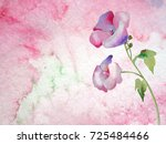 mallow on a watercolor... | Shutterstock . vector #725484466