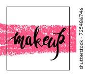 make up logo idea with modern... | Shutterstock .eps vector #725486746
