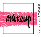 make up logo idea with modern... | Shutterstock .eps vector #725486752