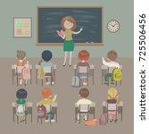 teachers day background. school ... | Shutterstock .eps vector #725506456