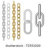 two kind of different chain on... | Shutterstock .eps vector #72551020