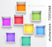 3d isolated empty colorful... | Shutterstock .eps vector #72551068