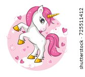 cute magical unicorn. vector... | Shutterstock .eps vector #725511412