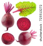 isolated beetroot collection.... | Shutterstock . vector #725513272