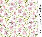 romantic watercolor... | Shutterstock . vector #725523865