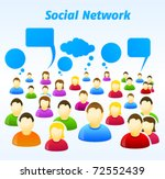 colorful social network people... | Shutterstock .eps vector #72552439