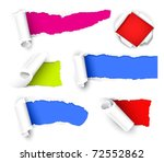 colour paper | Shutterstock .eps vector #72552862