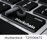 blockchain digital chain with... | Shutterstock . vector #725530672