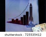 business  laptop  dollars   Shutterstock . vector #725535412