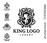 luxury boutique royal crest... | Shutterstock .eps vector #725540386