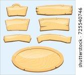 directory wooden signboard road ... | Shutterstock .eps vector #725540746
