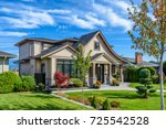 luxury house in vancouver ... | Shutterstock . vector #725542528