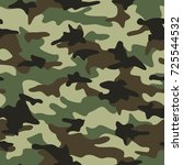 camouflage pattern seamless... | Shutterstock .eps vector #725544532