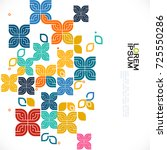 colorful pattern and variety... | Shutterstock .eps vector #725550286