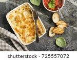 fragrant homemade casserole... | Shutterstock . vector #725557072