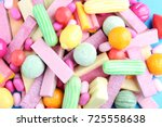 Fruit Chewing Gums Background