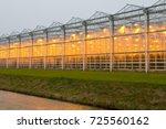 the exterior glass facade of...   Shutterstock . vector #725560162