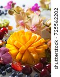 various fresh fruits and... | Shutterstock . vector #725562202