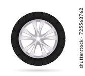 car wheel  isolated on white... | Shutterstock .eps vector #725563762