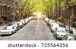 residential buildings  brooklyn ... | Shutterstock . vector #725564356