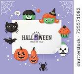 halloween holiday banner design ... | Shutterstock .eps vector #725571082