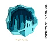 Paper Art Of Skyline New York...