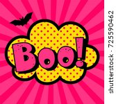 halloween style pop art icon... | Shutterstock .eps vector #725590462