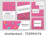 abstract vector layout... | Shutterstock .eps vector #725594176