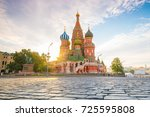 basil's cathedral at red square ... | Shutterstock . vector #725595808