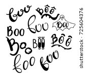 happy halloween vector design... | Shutterstock .eps vector #725604376
