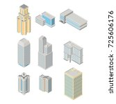 vector isometric city ... | Shutterstock .eps vector #725606176