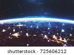 data exchange and global... | Shutterstock . vector #725606212
