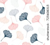 Seamless Pattern With Ginkgo...